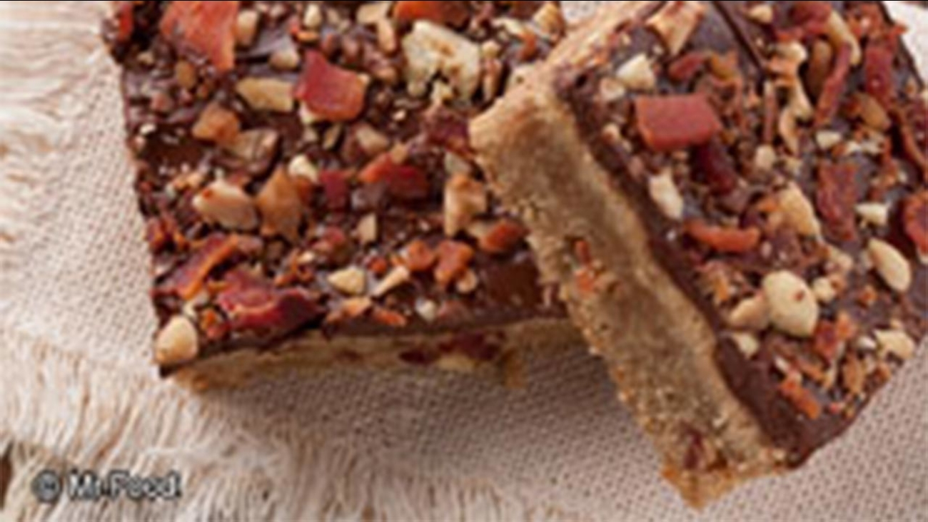 Peanut Butter-Bacon Bars