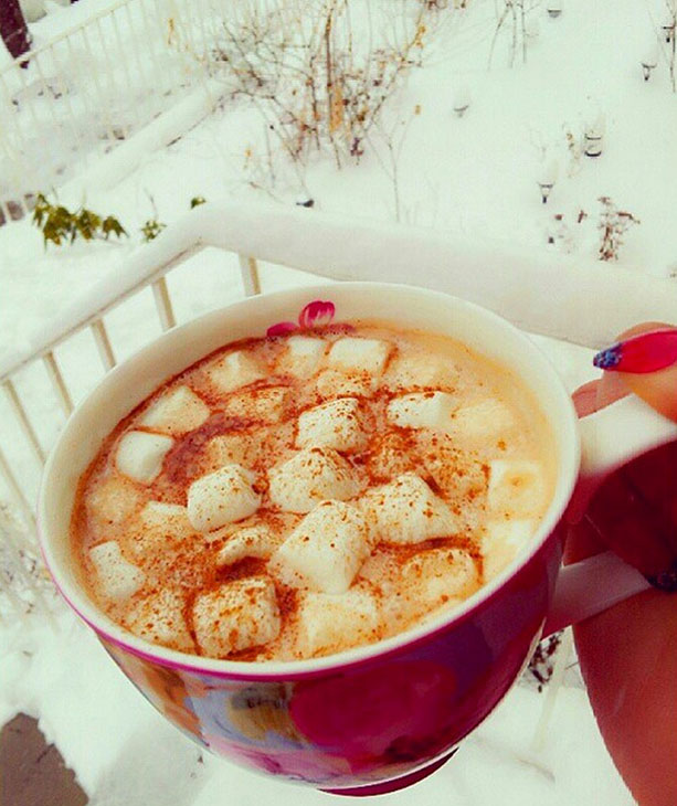 "<div class=""meta image-caption""><div class=""origin-logo origin-image none""><span>none</span></div><span class=""caption-text"">#GoodMorning and Happy #SnowDay guys! #Cinnamon #HotChocolate #Marshmallows #SnowMageddon2015 #WinterWonderland #ABC7NY #BrooklynNY @ABC7NY (cameliashantelle/Instagram)</span></div>"