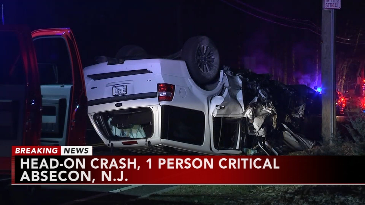 1 critical in absecon, new jersey head-on crash | 6abc