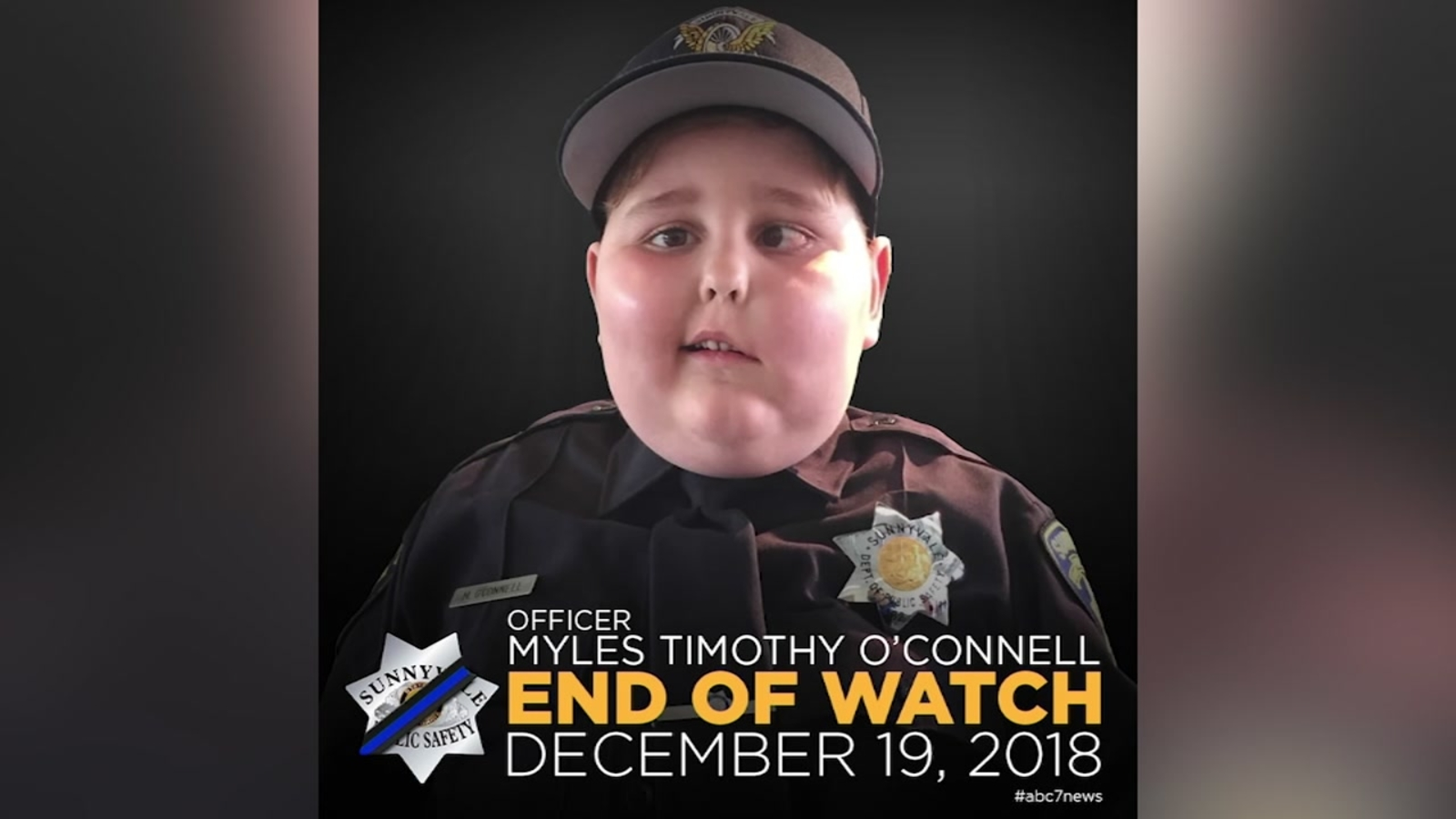 7-year-old honorary Sunnyvale officer has passed away