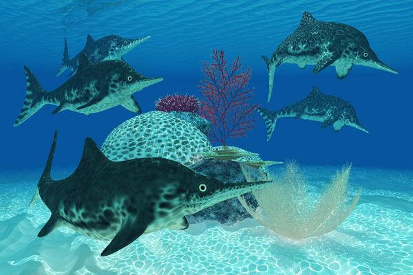 Photos Dinosaurs Of The Deep Invade Adventure Aquarium
