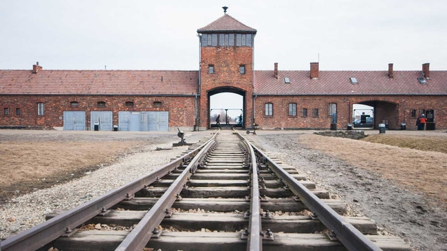 haunting: drone video of auschwitz, the infamous nazi concentration