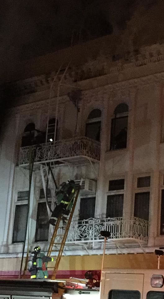 """<div class=""""meta image-caption""""><div class=""""origin-logo origin-image kgo""""><span>KGO</span></div><span class=""""caption-text"""">A fire burns in the Mission District neighborhood of San Francisco, Calif. on Jan. 28, 2015. (Photo by Edwin via Facebook)</span></div>"""