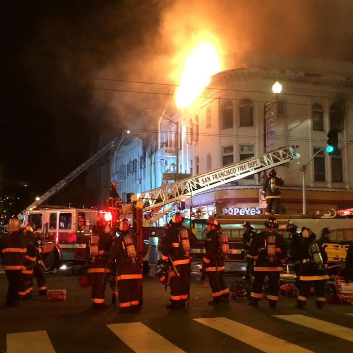 """<div class=""""meta image-caption""""><div class=""""origin-logo origin-image kgo""""><span>KGO</span></div><span class=""""caption-text"""">A fire burns in the Mission District neighborhood of San Francisco, Calif. on Jan. 28, 2015.</span></div>"""