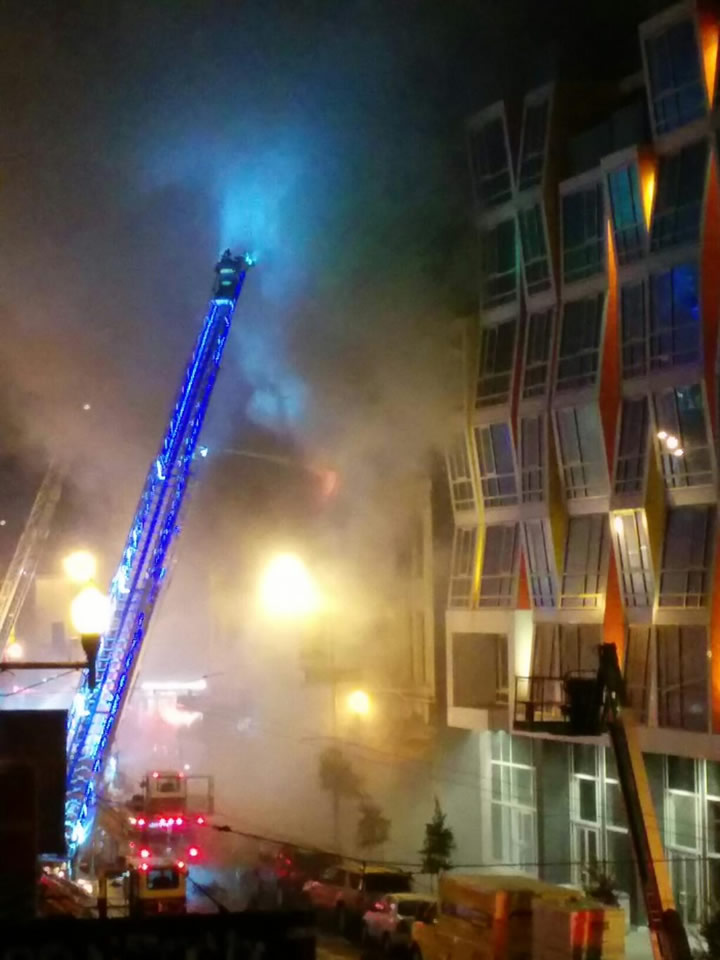 """<div class=""""meta image-caption""""><div class=""""origin-logo origin-image none""""><span>none</span></div><span class=""""caption-text"""">A fire burns in the Mission District neighborhood of San Francisco, Calif. on Jan. 28, 2015.  (Photo by Pat via Twitter)</span></div>"""