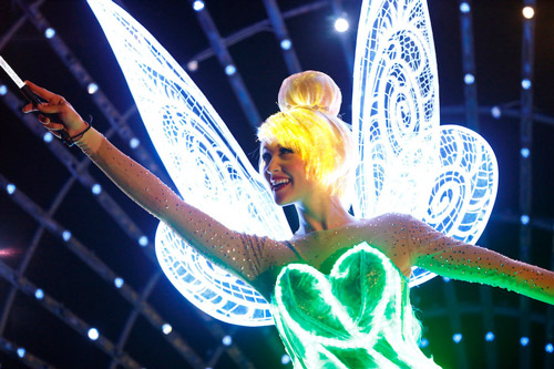 """<div class=""""meta image-caption""""><div class=""""origin-logo origin-image kabc""""><span>KABC</span></div><span class=""""caption-text"""">Tinker Bell is featured in the new parade """"Paint the Night"""" as part of Disneyland's 60-year anniversary diamond celebration.</span></div>"""