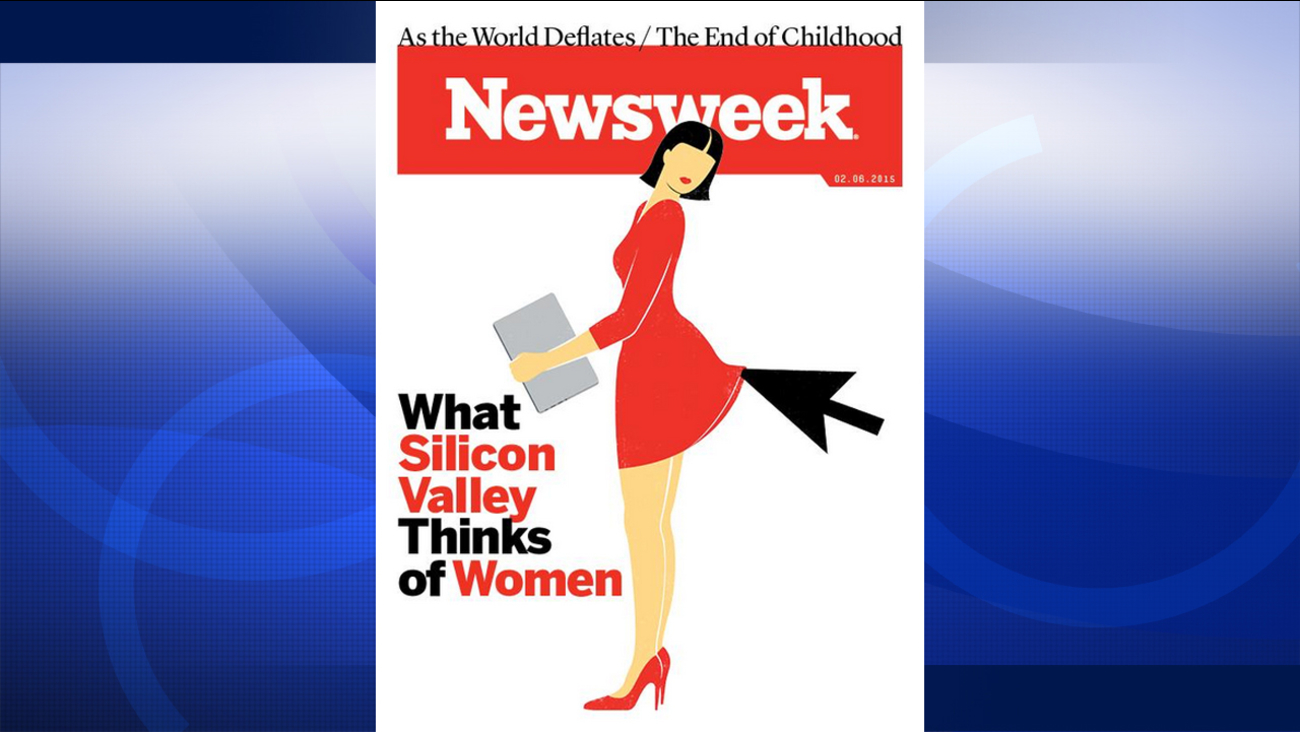 """What Silicon Valley Thinks of Women"" Newsweek cover"