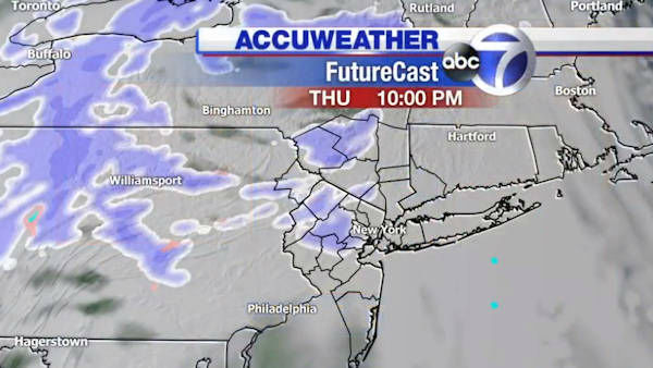 """<div class=""""meta image-caption""""><div class=""""origin-logo origin-image none""""><span>none</span></div><span class=""""caption-text"""">The latest maps from AccuWeather on the potential for snow Thursday night into Friday.</span></div>"""
