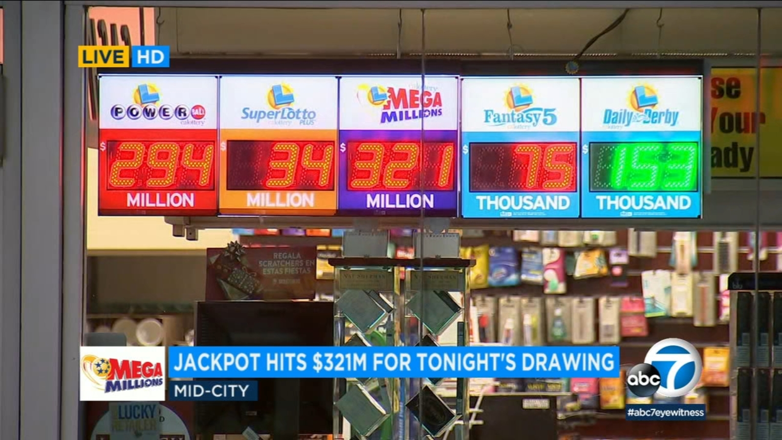 Mega Millions Jackpot 321m Up For Grabs In Christmas Night Drawing Abc7 Los Angeles