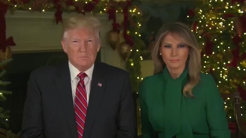 Trump Christmas.Donald J Trump And Melania Deliver 2018 White House