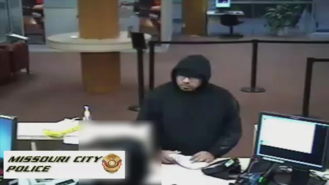 Video Suspect Gets Away After Robbing Missouri City Bank