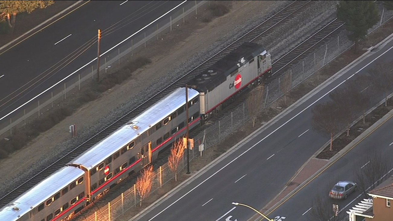 Caltrain stopped