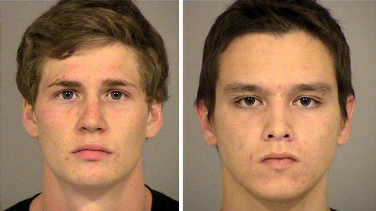 Cody Jens, 24, of Agoura Hills, and Luke Karasiuk, 22, of Thousand Oaks.