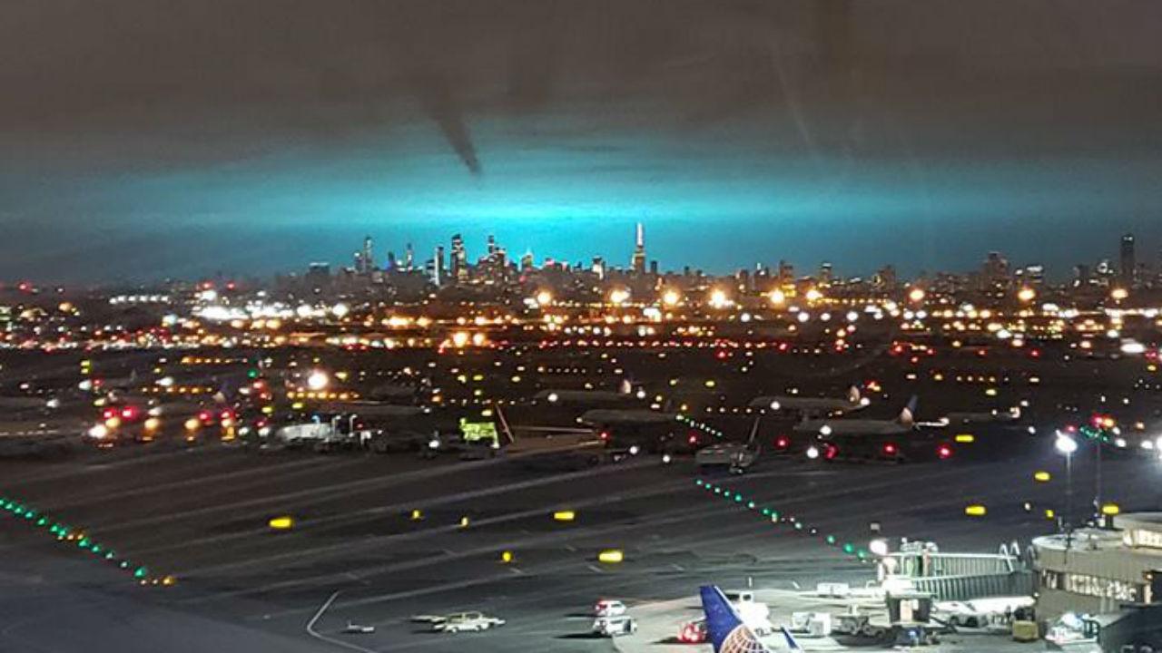 Electrical Arc Turned Night Sky Blue