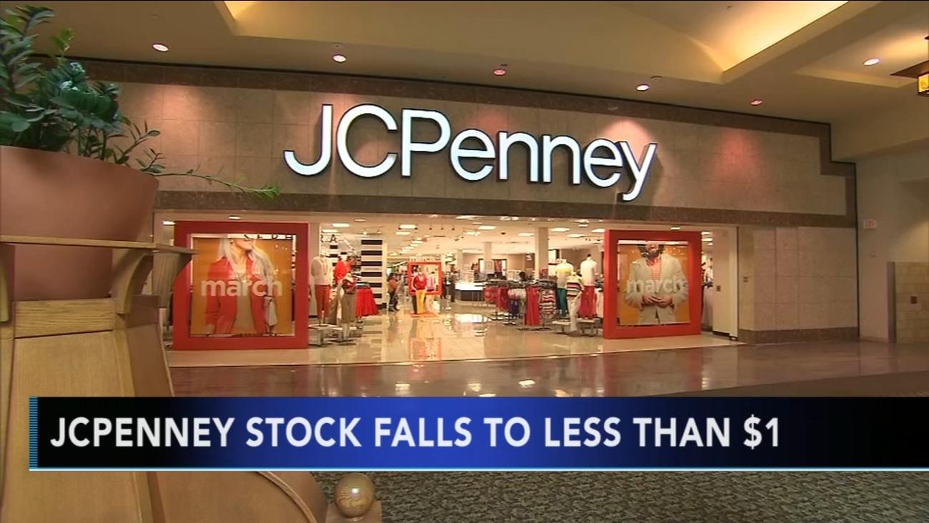 jcpenney stock falls below 1