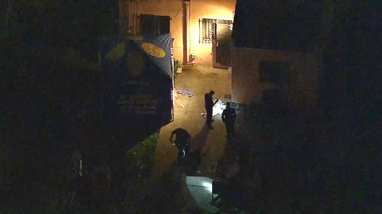 Los Angeles police were investigating a fatal shooting in South Los Angeles on Friday, Jan. 30, 2015. A teen was killed and another was wounded.