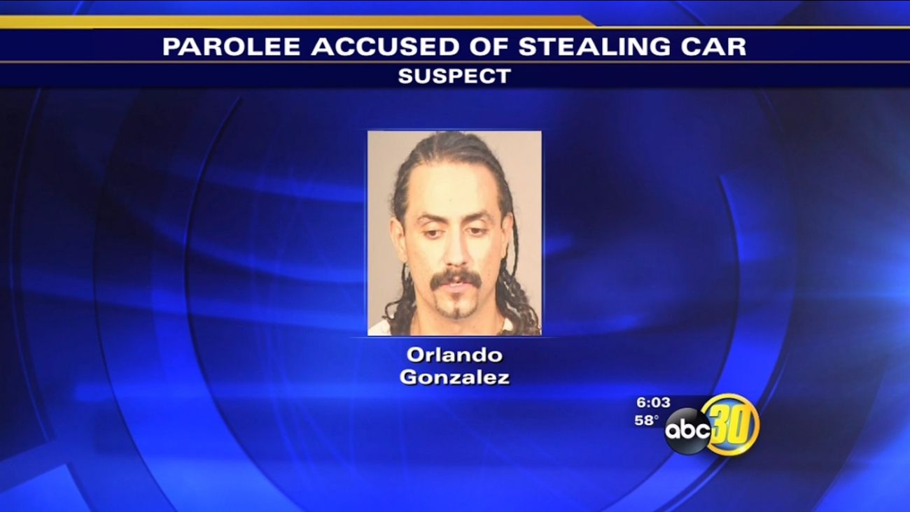 Fresno police arrest wanted parolee accused of stealing SUV