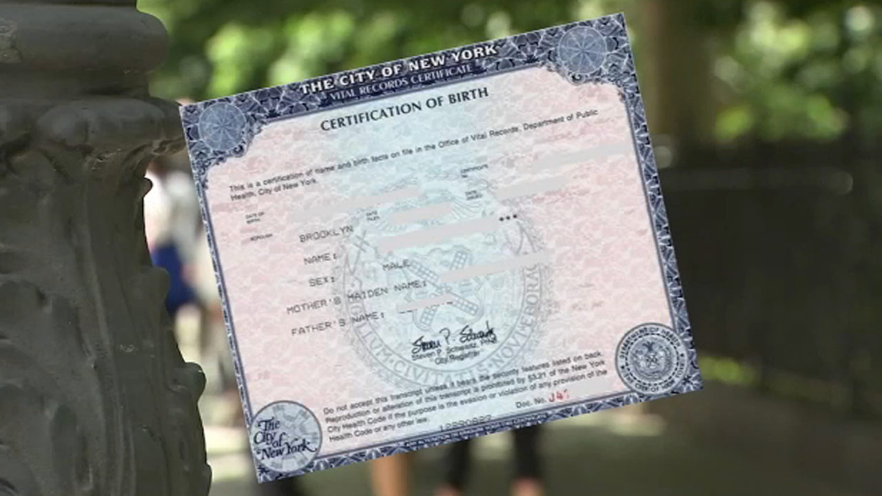 birth certificate city of new york