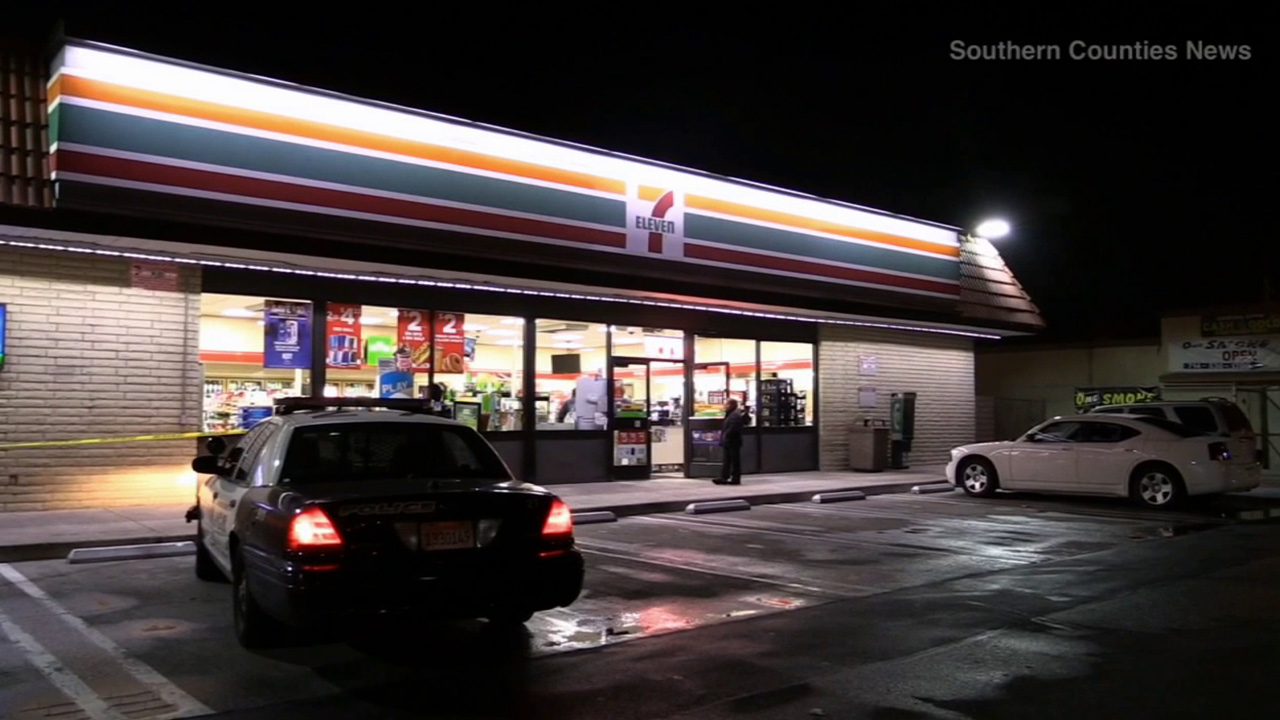 An officer-involved shooting occurred at a 7-Eleven in Garden Grove between officers and an armed robbery suspect on Sunday, Feb. 1, 2015.