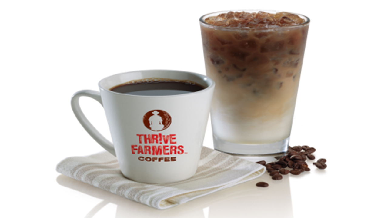 Hot and ice coffee