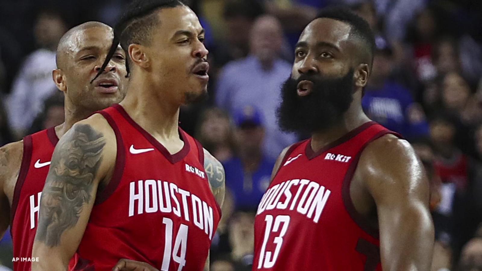 4c9e76e1d7d3 James Harden rallies Rockets in OT to edge Warriors 135-134