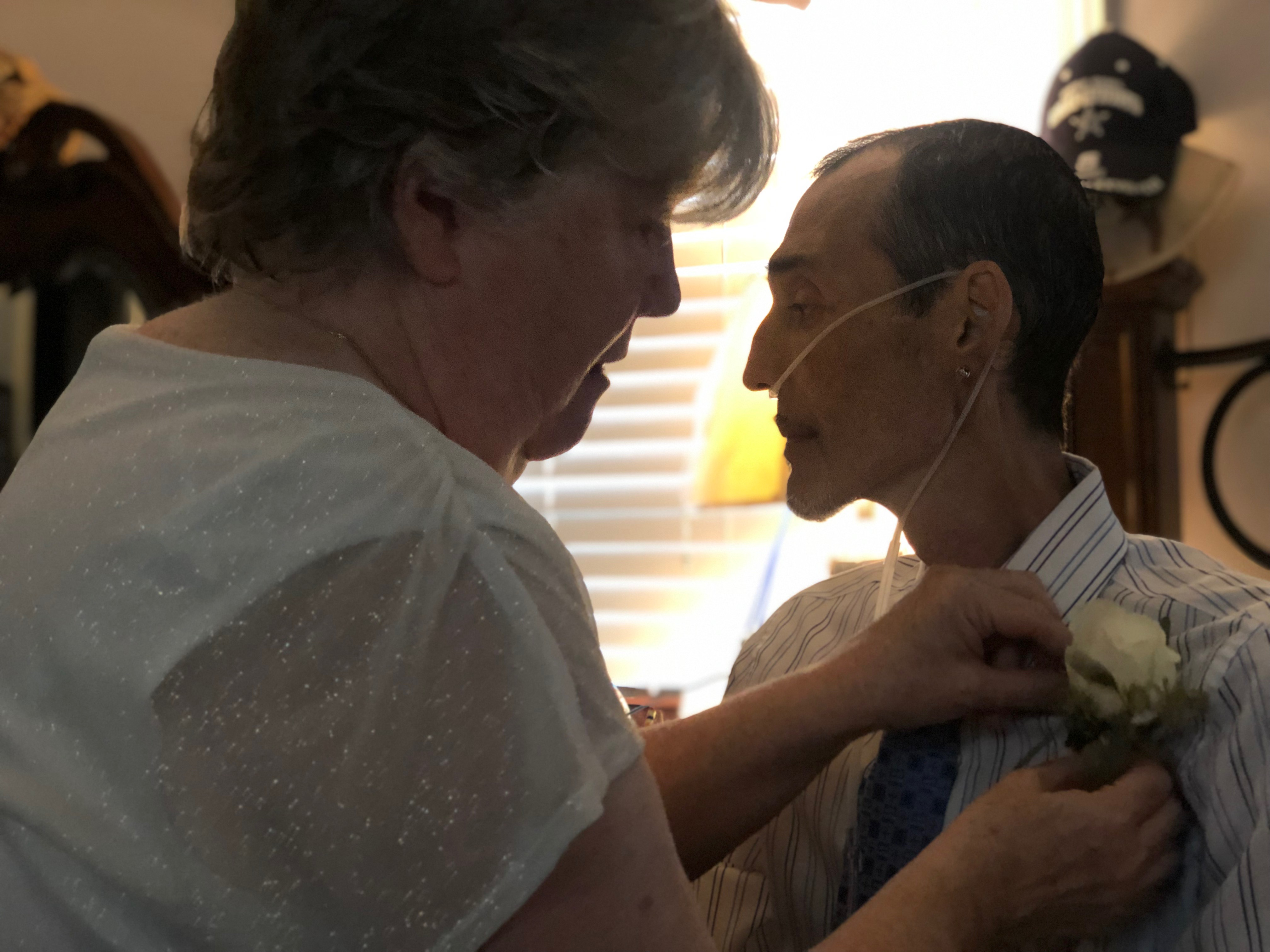 <div class='meta'><div class='origin-logo' data-origin='WTVD'></div><span class='caption-text' data-credit=''>Tony and Christy Leonard renewed their vows. Tony had just days to live because of stomach cancer.</span></div>