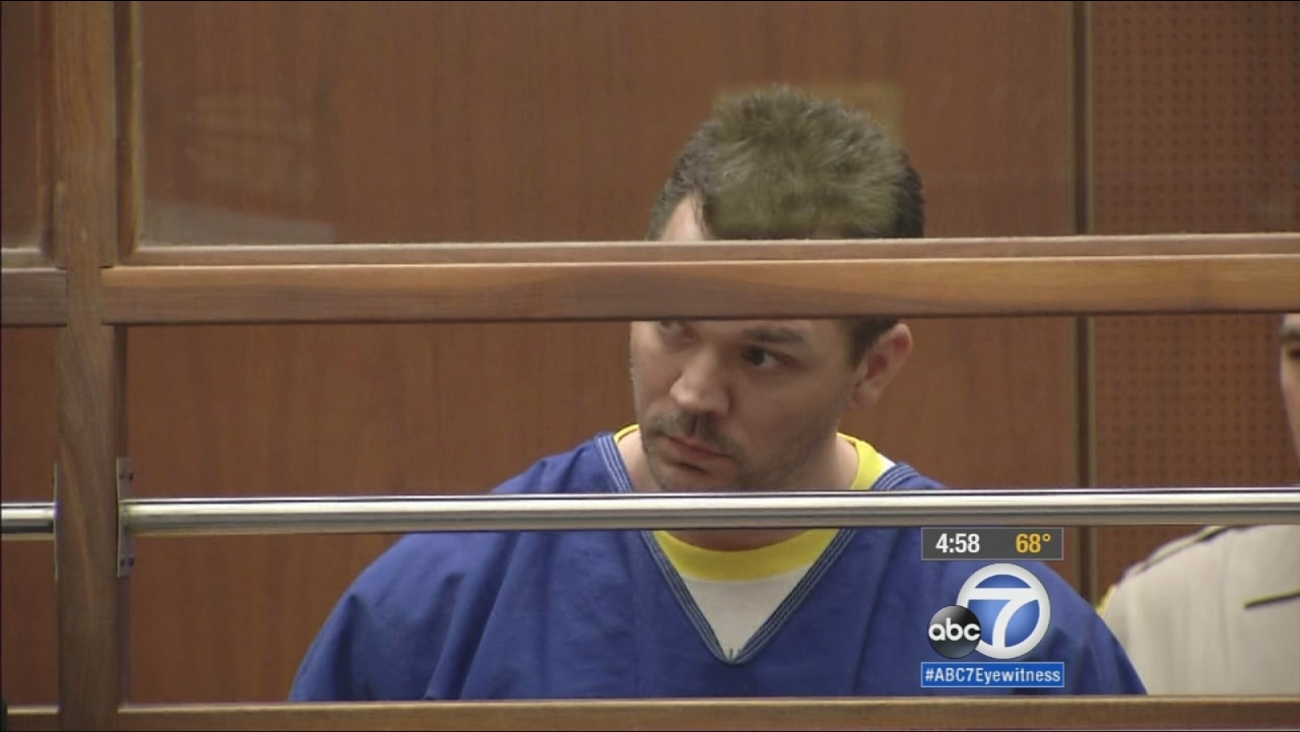 John Creech, 42, shown above, appears in front of a judge in a Los Angeles Superior Courtroom Monday, Feb. 2, 2015.
