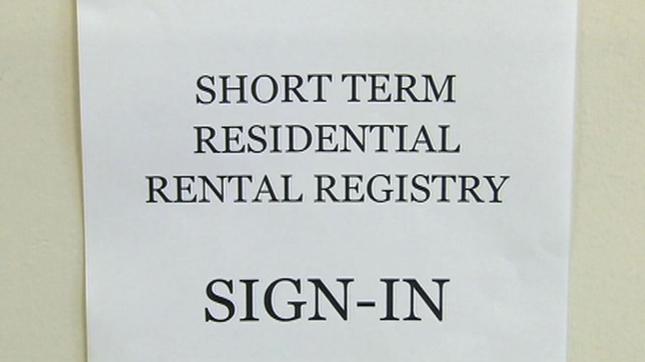 short-term residential registry sign