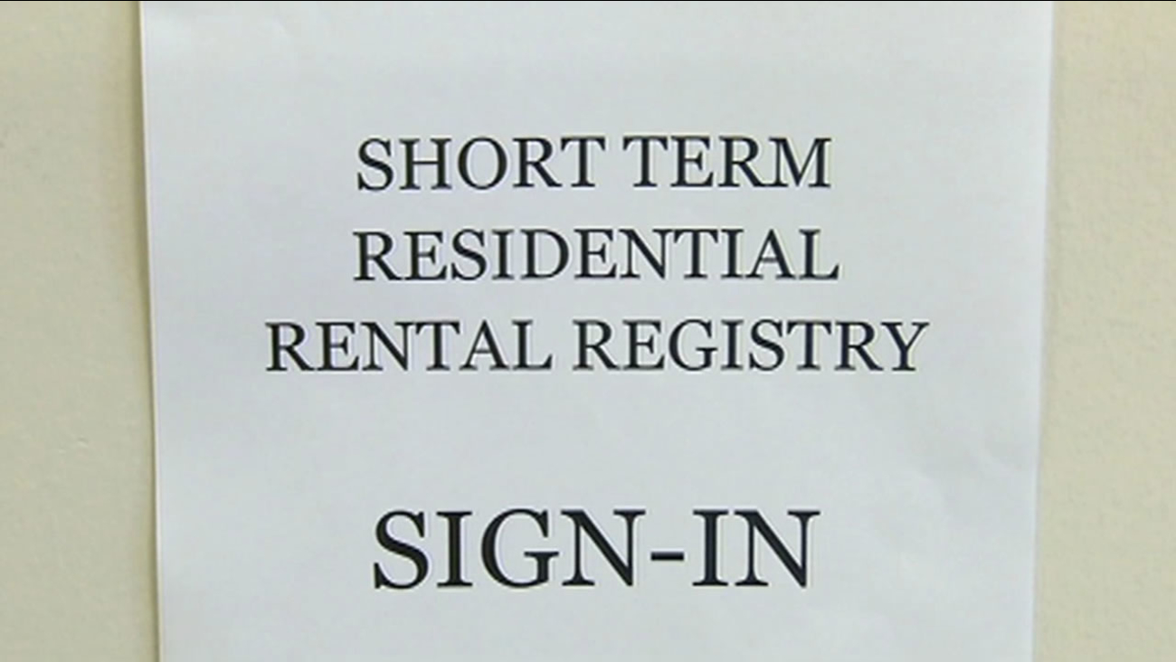 short-term residential registry sign