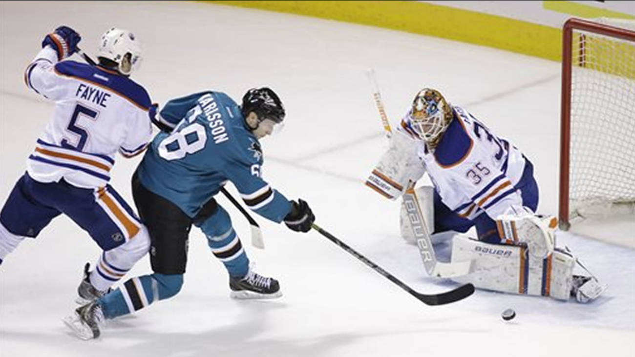 San Jose Sharks right wing Melker Karlsson