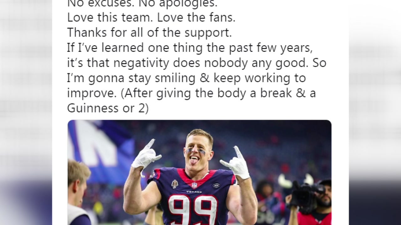 Houston Texans star J.J. Watt thankful for fans  support after tough loss  to Indianapolis Colts 5474350aa