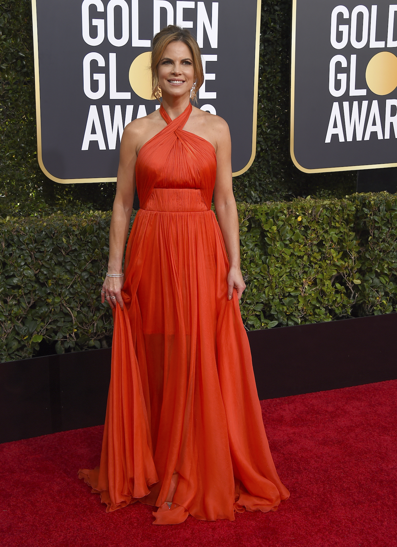 <div class='meta'><div class='origin-logo' data-origin='AP'></div><span class='caption-text' data-credit='Jordan Strauss/Invision/AP'>Natalie Morales arrives at the 76th annual Golden Globe Awards at the Beverly Hilton Hotel on Sunday, Jan. 6, 2019, in Beverly Hills, Calif.</span></div>