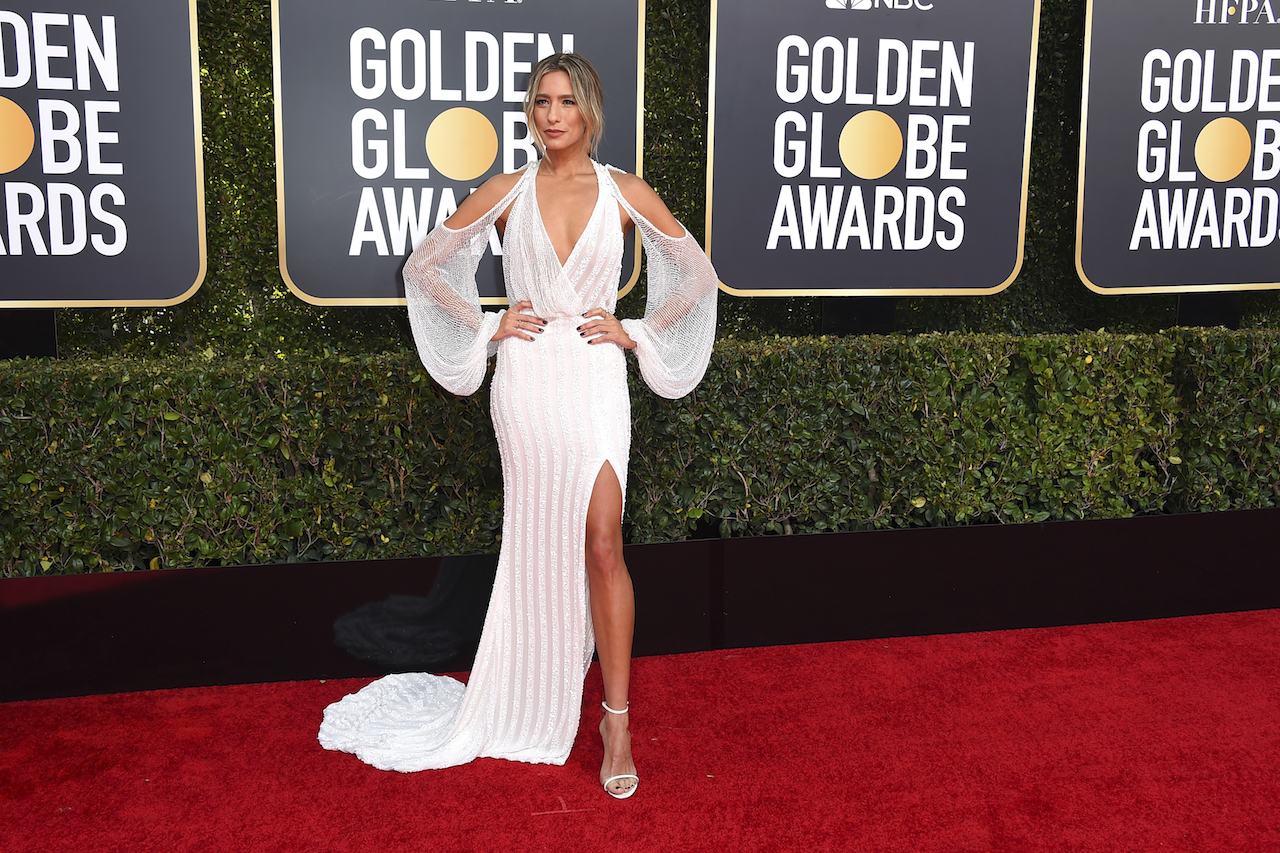 <div class='meta'><div class='origin-logo' data-origin='AP'></div><span class='caption-text' data-credit='Jordan Strauss/Invision/AP'>Renee Bargh arrives at the 76th annual Golden Globe Awards at the Beverly Hilton Hotel on Sunday, Jan. 6, 2019, in Beverly Hills, Calif.</span></div>