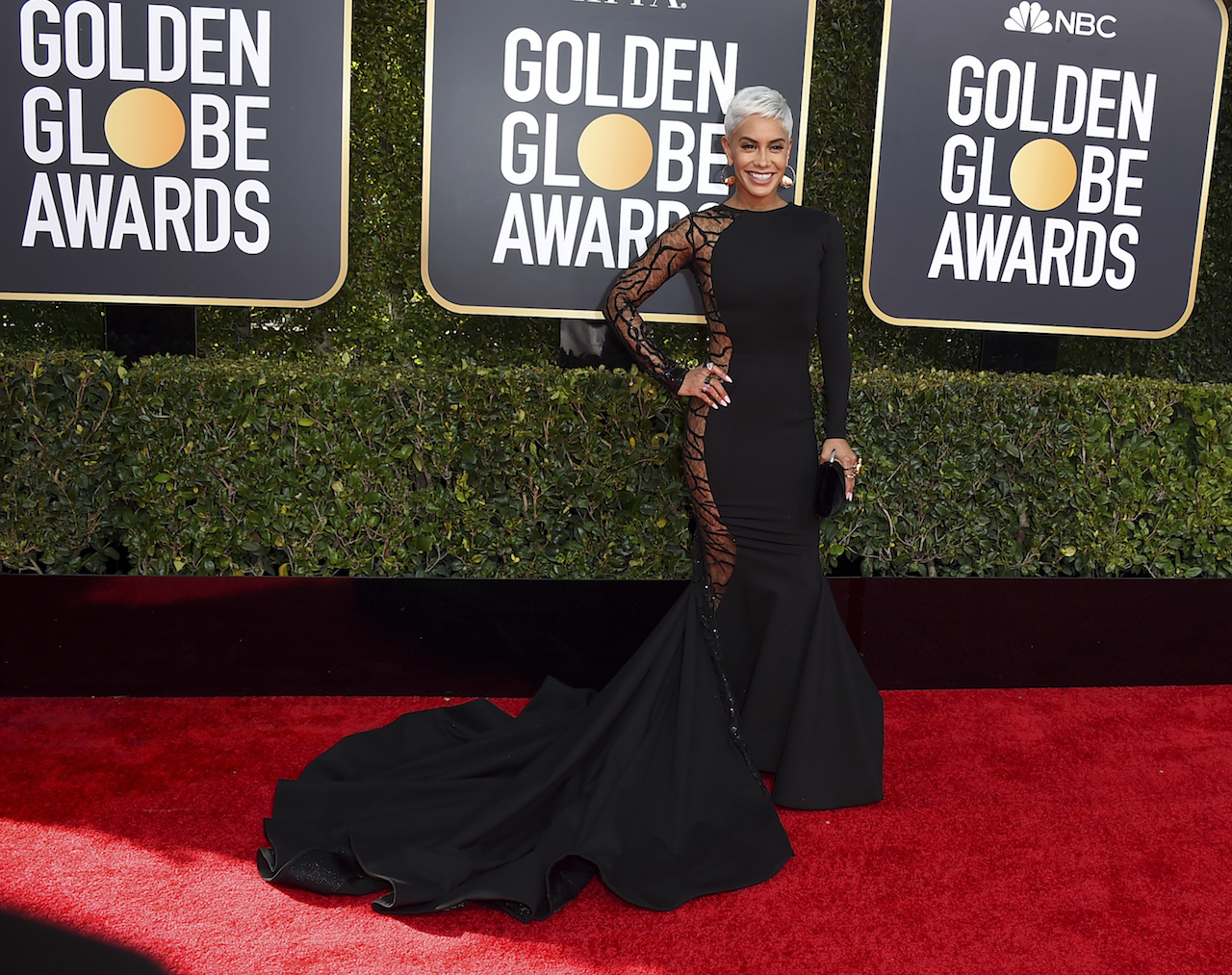 "<div class=""meta image-caption""><div class=""origin-logo origin-image ap""><span>AP</span></div><span class=""caption-text"">Sibley Scoles arrives at the 76th annual Golden Globe Awards at the Beverly Hilton Hotel on Sunday, Jan. 6, 2019, in Beverly Hills, Calif. (Jordan Strauss/Invision/AP)</span></div>"