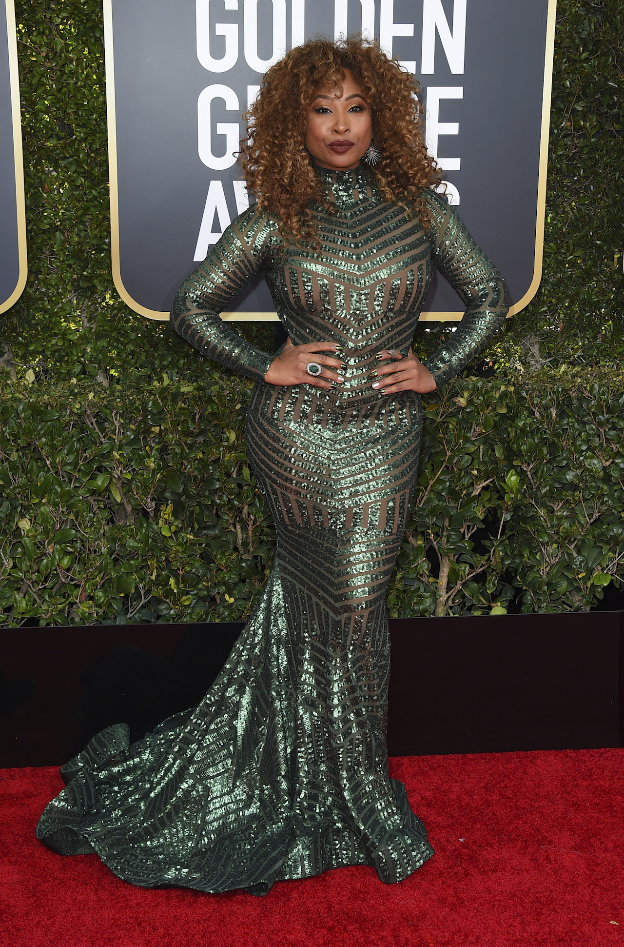 <div class='meta'><div class='origin-logo' data-origin='AP'></div><span class='caption-text' data-credit='Jordan Strauss/Invision/AP'>Tanika Ray arrives at the 76th annual Golden Globe Awards at the Beverly Hilton Hotel on Sunday, Jan. 6, 2019, in Beverly Hills, Calif.</span></div>