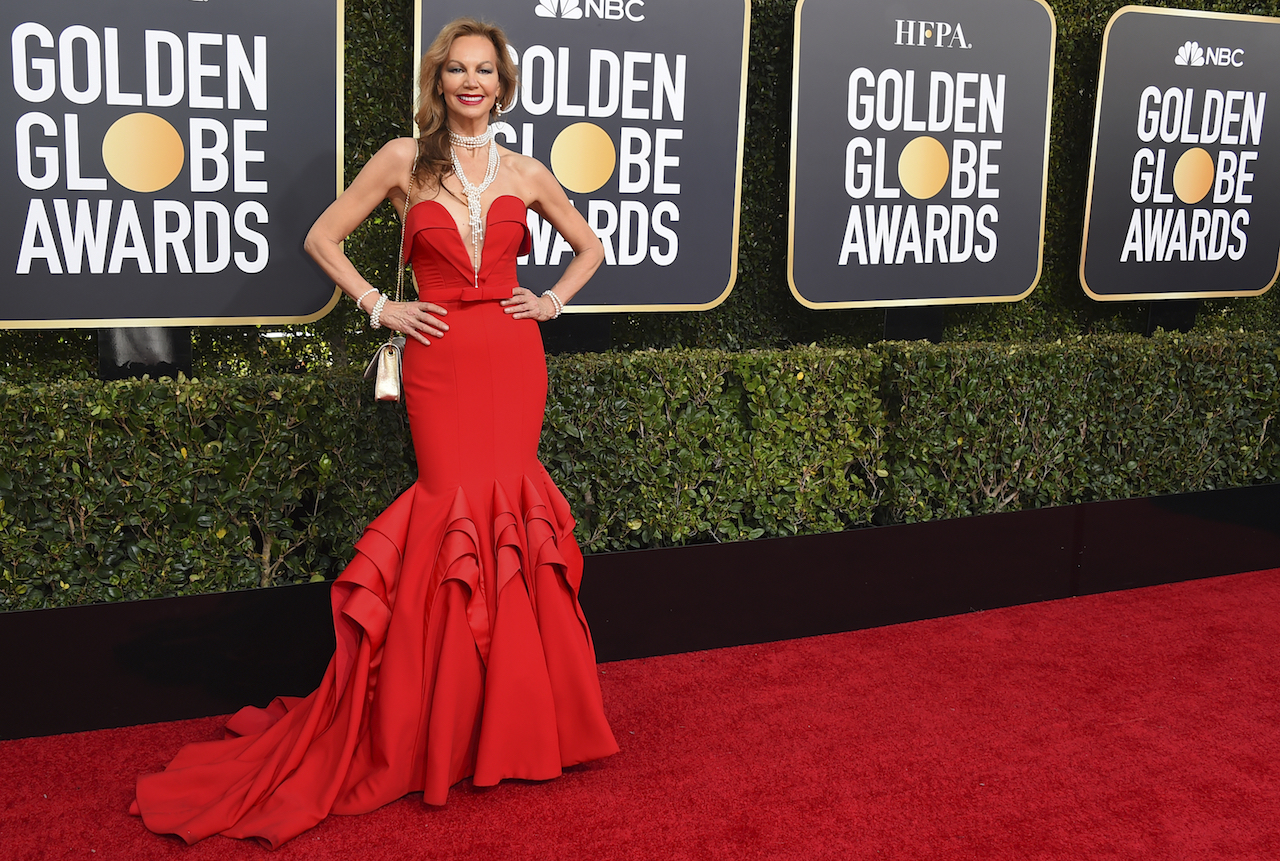 "<div class=""meta image-caption""><div class=""origin-logo origin-image ap""><span>AP</span></div><span class=""caption-text"">Margaret Gardiner arrives at the 76th annual Golden Globe Awards at the Beverly Hilton Hotel on Sunday, Jan. 6, 2019, in Beverly Hills, Calif. (Jordan Strauss/Invision/AP)</span></div>"