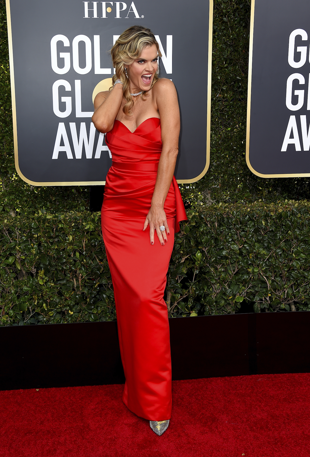 "<div class=""meta image-caption""><div class=""origin-logo origin-image ap""><span>AP</span></div><span class=""caption-text"">Missi Pyle arrives at the 76th annual Golden Globe Awards at the Beverly Hilton Hotel on Sunday, Jan. 6, 2019, in Beverly Hills, Calif. (Jordan Strauss/Invision/AP)</span></div>"