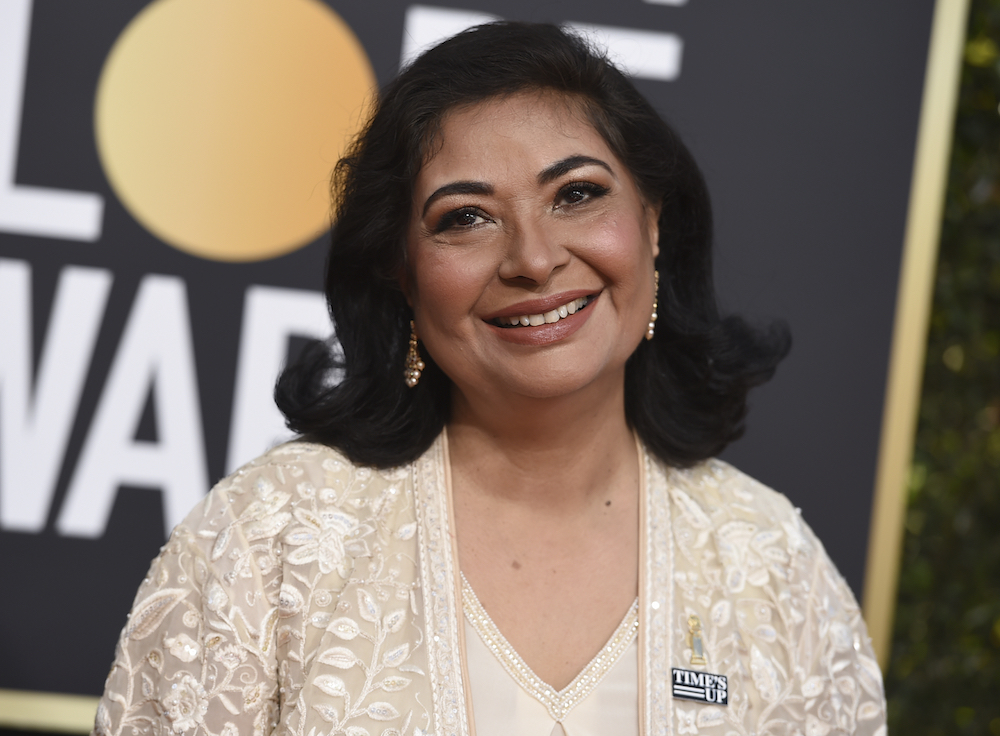 <div class='meta'><div class='origin-logo' data-origin='AP'></div><span class='caption-text' data-credit='Invision'>HFPA President Meher Tatna arrives at the 76th annual Golden Globe Awards at the Beverly Hilton Hotel on Sunday, Jan. 6, 2019, in Beverly Hills, Calif.</span></div>