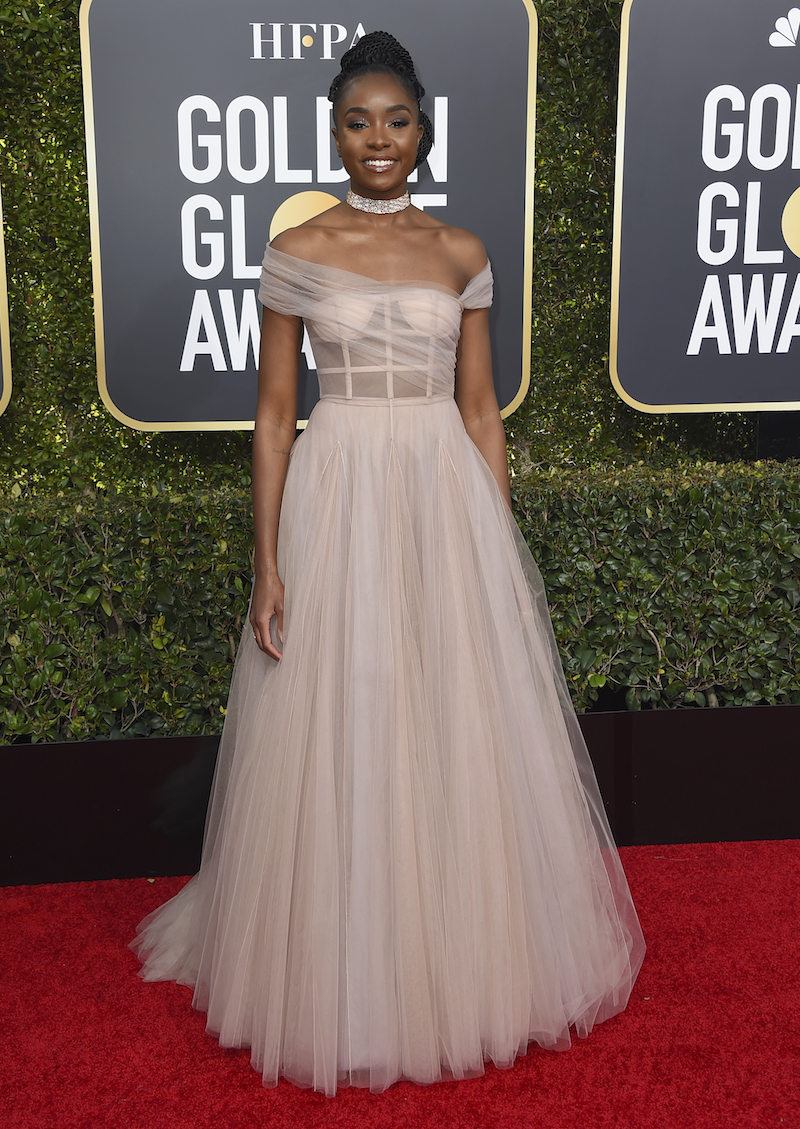 <div class='meta'><div class='origin-logo' data-origin='AP'></div><span class='caption-text' data-credit='Jordan Strauss/Invision/AP'>Kiki Layne arrives at the 76th annual Golden Globe Awards at the Beverly Hilton Hotel on Sunday, Jan. 6, 2019, in Beverly Hills, Calif.</span></div>