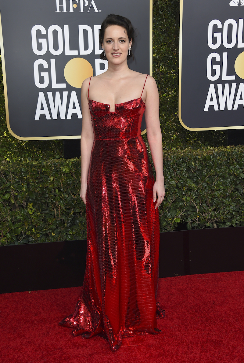 "<div class=""meta image-caption""><div class=""origin-logo origin-image ap""><span>AP</span></div><span class=""caption-text"">Phoebe Waller-Bridge arrives at the 76th annual Golden Globe Awards at the Beverly Hilton Hotel on Sunday, Jan. 6, 2019, in Beverly Hills, Calif. (Invision)</span></div>"