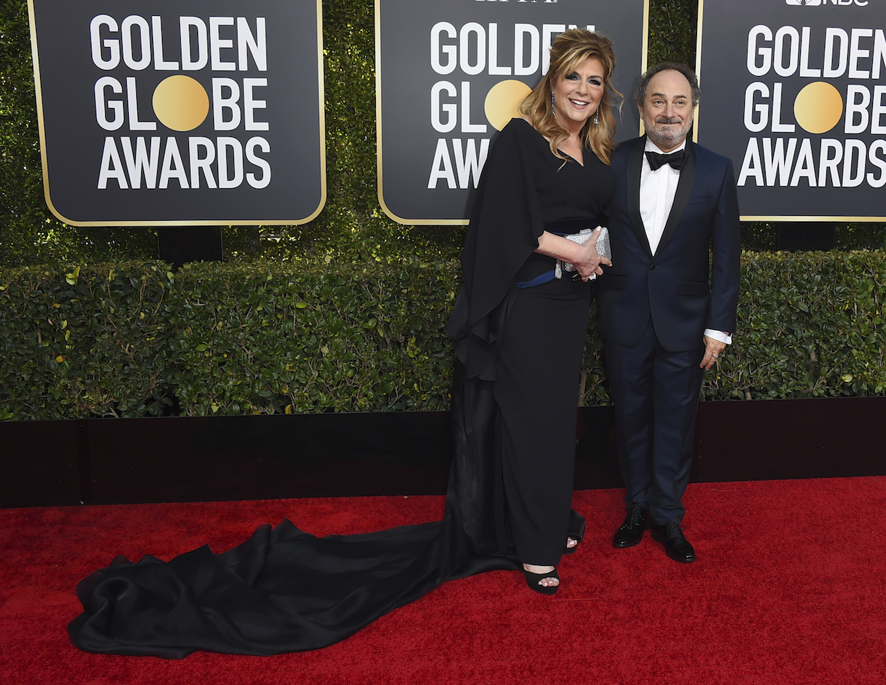 <div class='meta'><div class='origin-logo' data-origin='AP'></div><span class='caption-text' data-credit='Jordan Strauss/Invision/AP'>Caroline Aaron, left, and Kevin Pollak arrive at the 76th annual Golden Globe Awards at the Beverly Hilton Hotel on Sunday, Jan. 6, 2019, in Beverly Hills, Calif.</span></div>