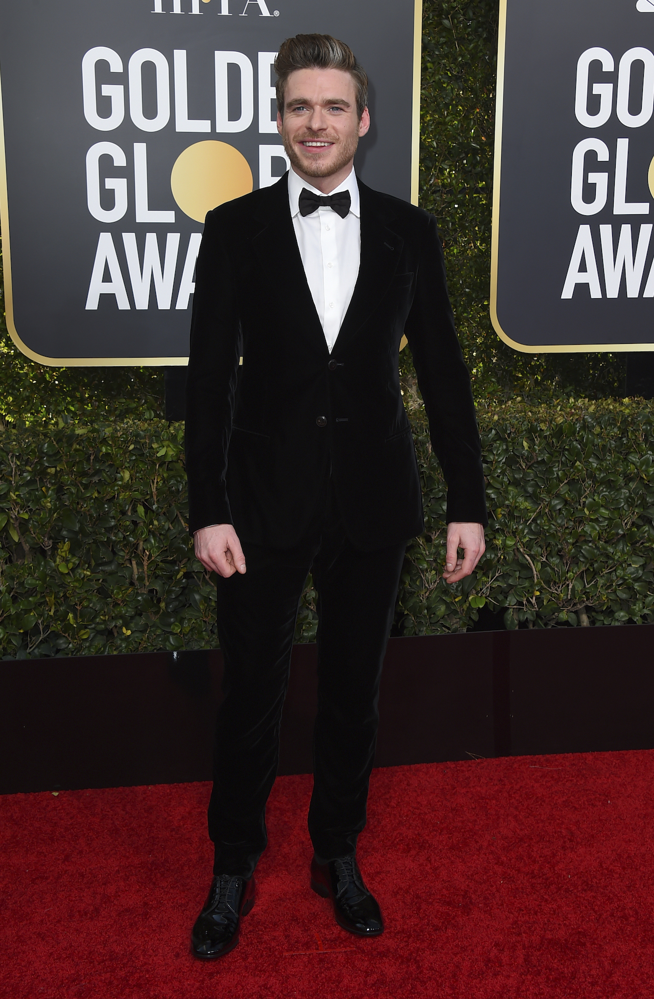 <div class='meta'><div class='origin-logo' data-origin='AP'></div><span class='caption-text' data-credit='Jordan Strauss/Invision/AP'>Richard Madden arrives at the 76th annual Golden Globe Awards at the Beverly Hilton Hotel on Sunday, Jan. 6, 2019, in Beverly Hills, Calif. (Photo by Jordan Strauss/Invision/AP)</span></div>