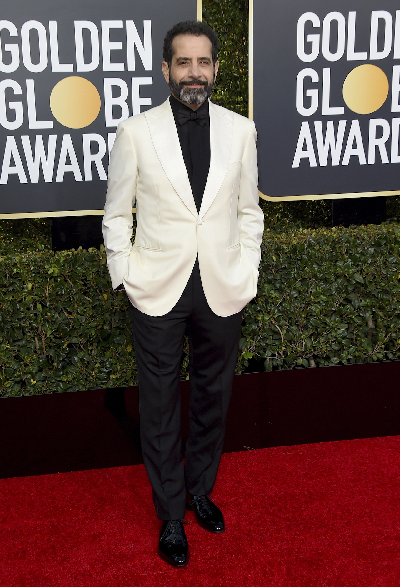 <div class='meta'><div class='origin-logo' data-origin='AP'></div><span class='caption-text' data-credit='Jordan Strauss/Invision/AP'>Tony Shalhoub arrives at the 76th annual Golden Globe Awards at the Beverly Hilton Hotel on Sunday, Jan. 6, 2019, in Beverly Hills, Calif.</span></div>