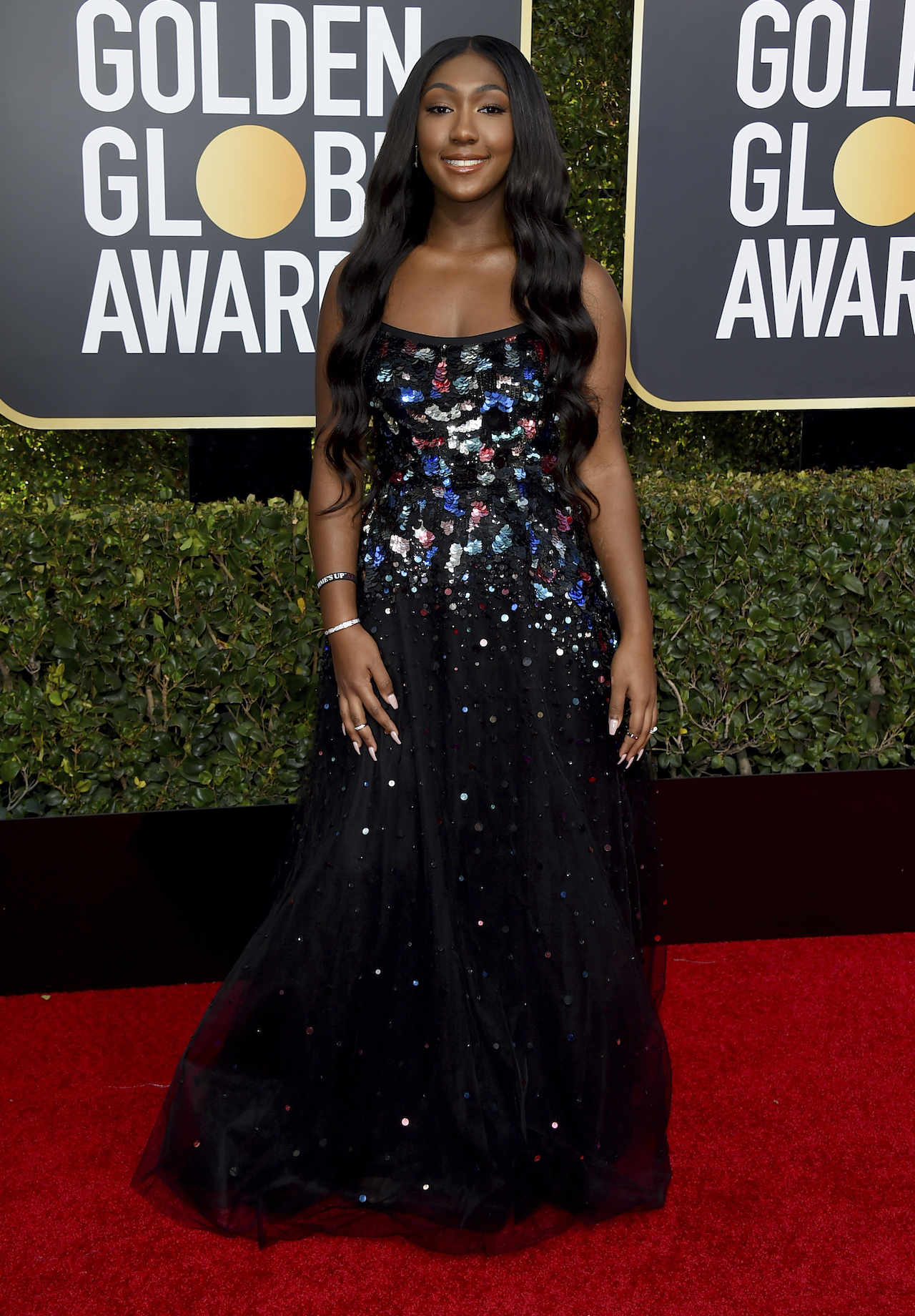 <div class='meta'><div class='origin-logo' data-origin='AP'></div><span class='caption-text' data-credit='Jordan Strauss/Invision/AP'>Isan Elba arrives at the 76th annual Golden Globe Awards at the Beverly Hilton Hotel on Sunday, Jan. 6, 2019, in Beverly Hills, Calif.</span></div>