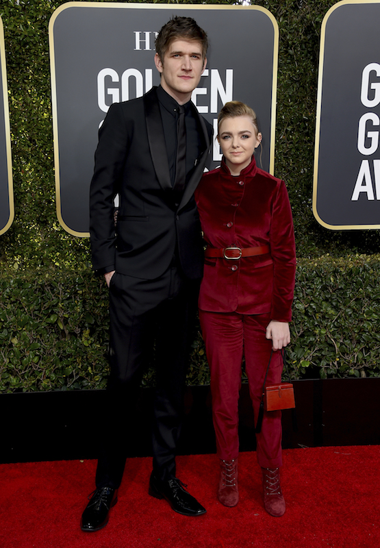 <div class='meta'><div class='origin-logo' data-origin='AP'></div><span class='caption-text' data-credit='Jordan Strauss/Invision/AP'>Elsie Fisher, right, and Bo Burnham arrive at the 76th annual Golden Globe Awards at the Beverly Hilton Hotel on Sunday, Jan. 6, 2019, in Beverly Hills, Calif.</span></div>