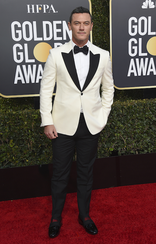 <div class='meta'><div class='origin-logo' data-origin='AP'></div><span class='caption-text' data-credit='Jordan Strauss/Invision/AP'>Luke Evans arrives at the 76th annual Golden Globe Awards at the Beverly Hilton Hotel on Sunday, Jan. 6, 2019, in Beverly Hills, Calif.</span></div>