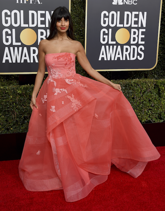 <div class='meta'><div class='origin-logo' data-origin='AP'></div><span class='caption-text' data-credit='Jordan Strauss/Invision/AP'>Jameela Jamil arrives at the 76th annual Golden Globe Awards at the Beverly Hilton Hotel on Sunday, Jan. 6, 2019, in Beverly Hills, Calif.</span></div>