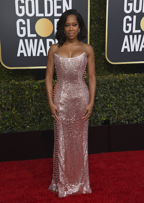 <div class='meta'><div class='origin-logo' data-origin='AP'></div><span class='caption-text' data-credit='Jordan Strauss/Invision/AP'>Regina King arrives at the 76th annual Golden Globe Awards at the Beverly Hilton Hotel on Sunday, Jan. 6, 2019, in Beverly Hills, Calif.</span></div>