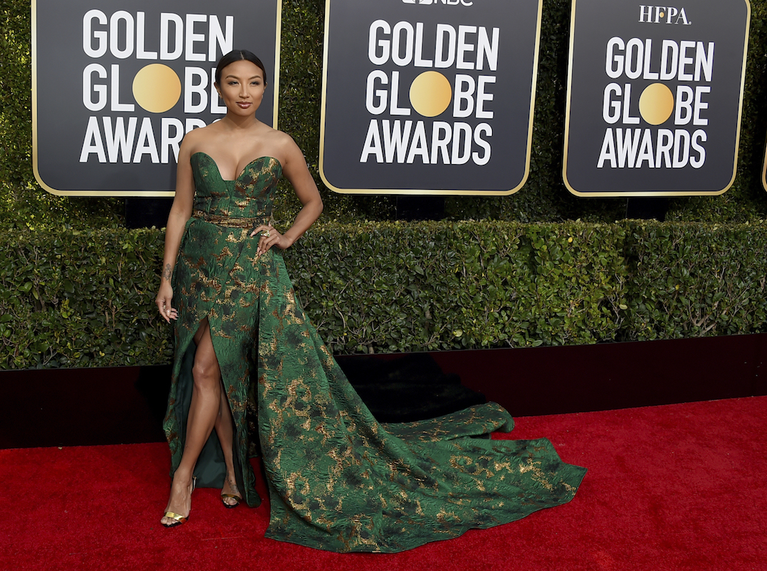 <div class='meta'><div class='origin-logo' data-origin='AP'></div><span class='caption-text' data-credit='Jordan Strauss/Invision/AP'>Jeannie Mai arrives at the 76th annual Golden Globe Awards at the Beverly Hilton Hotel on Sunday, Jan. 6, 2019, in Beverly Hills, Calif.</span></div>