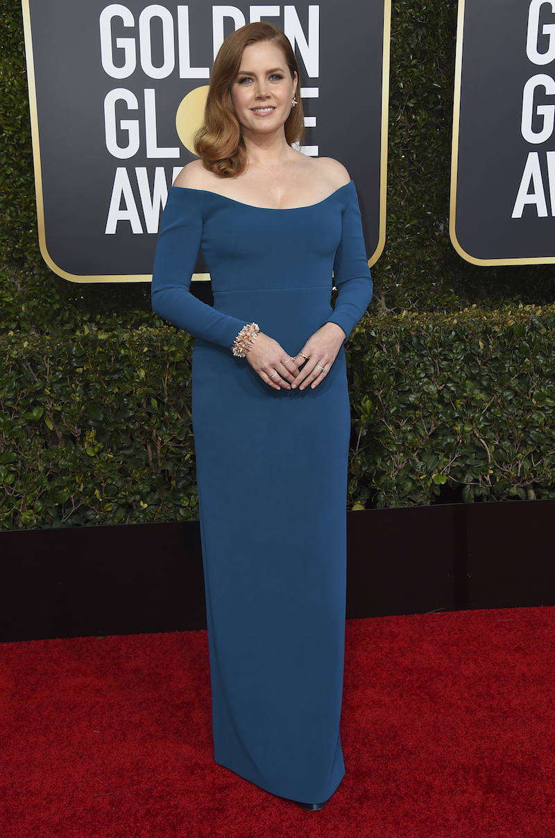 <div class='meta'><div class='origin-logo' data-origin='AP'></div><span class='caption-text' data-credit='Jordan Strauss/Invision/AP'>Amy Adams arrives at the 76th annual Golden Globe Awards at the Beverly Hilton Hotel on Sunday, Jan. 6, 2019, in Beverly Hills, Calif.</span></div>